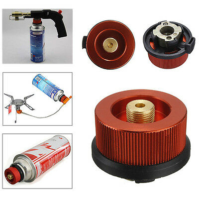 Outdoor Camping Conversion Head Gas Bottle Adaptor Camp Stove Burner Connector