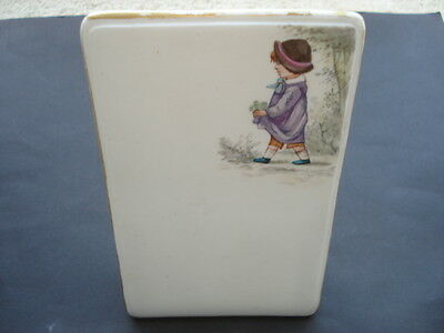 C1880-90S Vintage Pretty China Memo Pad With Picture Of A Little Girl
