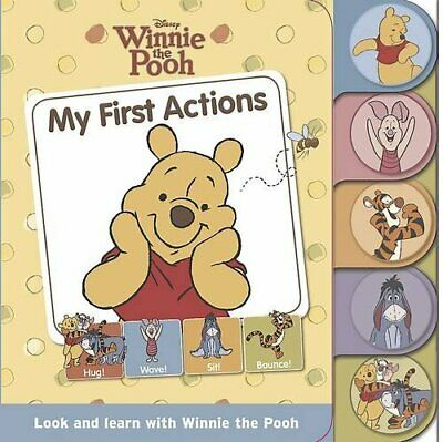 Disney Tabbed Board: Winnie the Pooh - My First Actions, Disney Book The Cheap