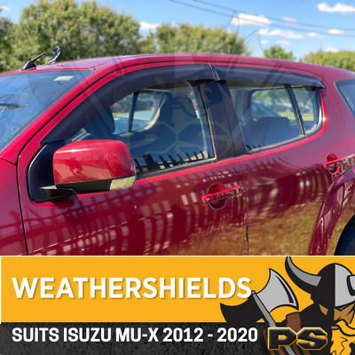 Superior Weathershields for ISUZU MU-X Window Door Visors