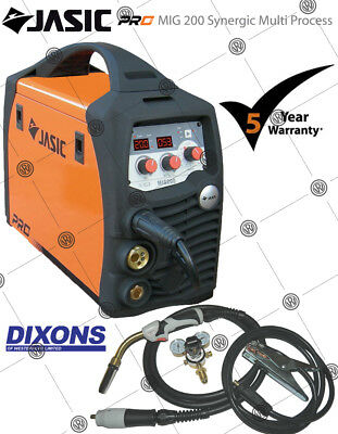 Jasic PRO MIG 200 AMP Synergic Multi Process Inverter Welder MMA Stick Welding