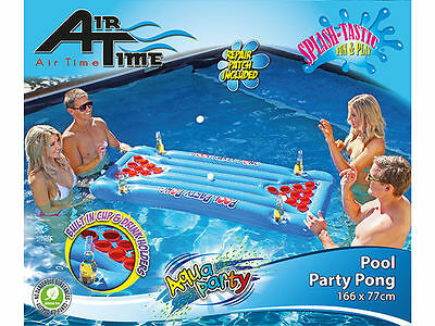 Party Pool Beer Pong 166cm 77Cm Lilo Air Bed Matt Pool Toy Adults
