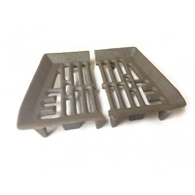 "Baxi Burnall Bottom Fire Grate D21 - 2 Pieces to Fit a 18"" Fireplace Opening"