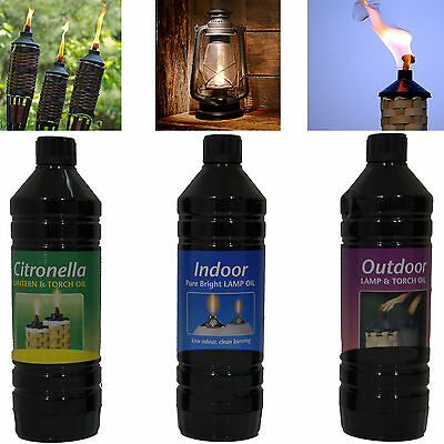 Indoor and Outdoor Torch Oil Citronella 1 Ltr  Lamp Oil  Lantern Pure Bright