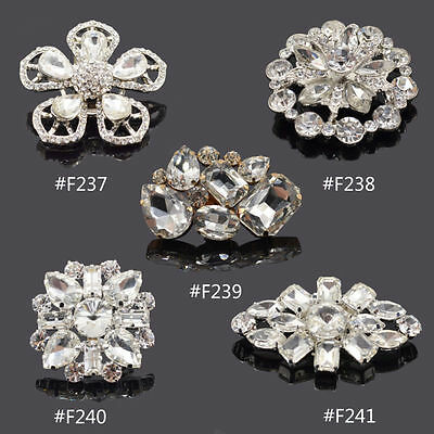 1Pc Rhinestone Crystal Boots Shoe Buckle Clip Wedding Bridal Accessories Fashion