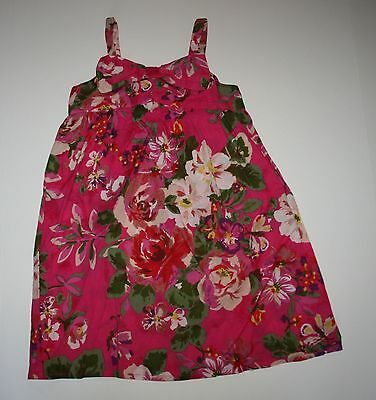 New Without Tags Next UK Girls Pink Floral Summer Bow Dress 6 year or 116cm NWT