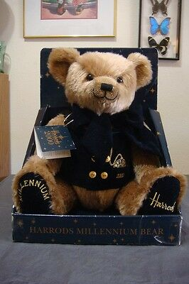 Harrod's Unique 2000 Millennium Teddy Bear In Mint Condition Box Has Some Damage