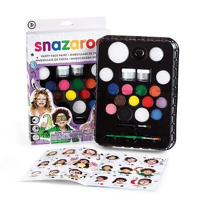 Snazaroo Ultimate Face Painting Kit Face & Body Paint Party Pack 50 Faces
