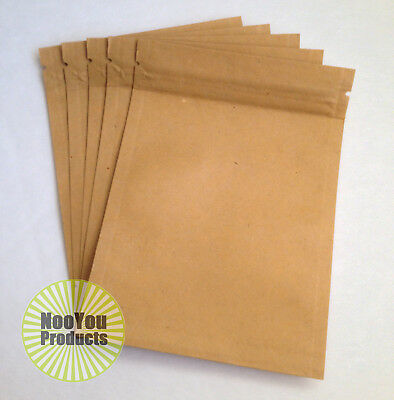 100 Kraft Paper, Smell Proof 3.5x5 Pouches, Durable Heat Sealable Ziplock Bags