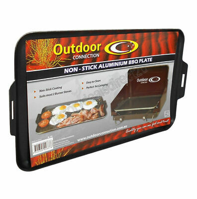 Outdoor Connection Non-Stick Aluminium BBQ Plate Ideal for Camping & 4wding