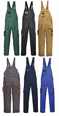 PORTWEST TX12 Texo contrast bib and brace overall coverall - 8 colours small-4XL