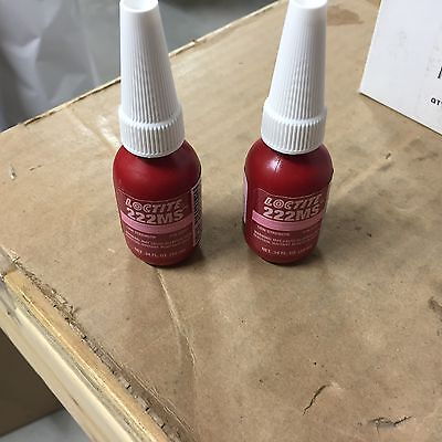 (2) NEW Loctite 222MS .34 FL. OZ (10 ml) Low Strength P/N 22221 (Expired 6/15)