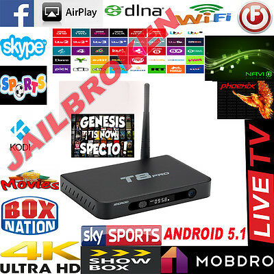 New T8PRO Amlogic S812 Android 5.1 Kitkat Quad Core Android TV Box Fully Loaded