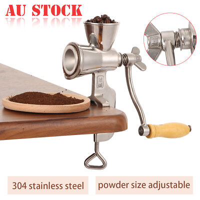 Stainless Steel Manual Grain Wheat Mulling Machine Coffee Soybeans Mill Grinder