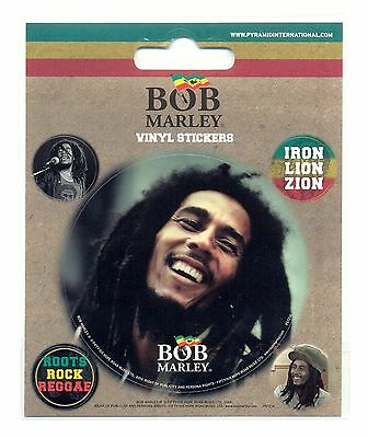 Bob Marley Face Vinyl Stickers Official Carded