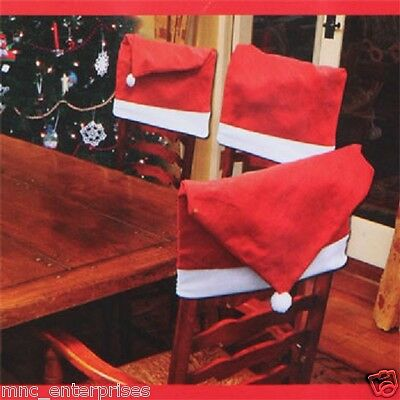 US Seller Santa Red Hat Chair Covers Christmas Decor