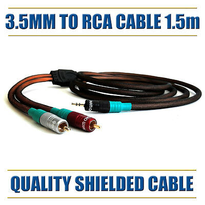 Shielded 3.5mm Jack to RCA Cable 3m