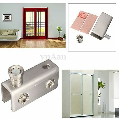 4/10x 9.5mm Stainless Steel Door Wall Window Thickness Glass Clamp Clip Bracket
