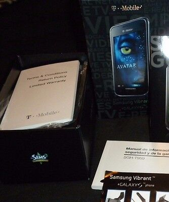 Samsung Galaxy S Vibrant T-Mobile T959  box manual start guide BOX ONLY