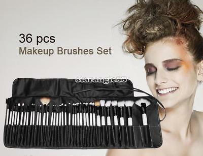 36PCS Trucco Cosmetici Ombretto fard Pennelli Make Up Brush Set con Nero Borsa