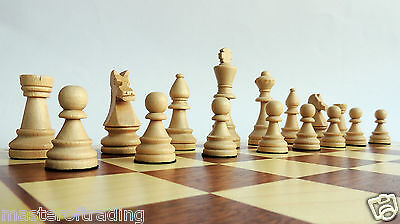 """INLAID """"TOURNAMENT No 6'' WOODEN CHESS SET 54 cm / 21"""" WITH WEIGHTED STAUNTON"""