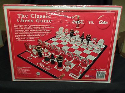 Coca Cola Classic Chess Game Collectors Edition Christmas Holiday Santa Polar Br