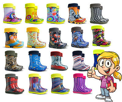 WELLIES KIDS RAIN WELLINGTON Rainy Snow Boots Shoes Socks Children Baby Boy Girl