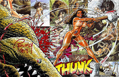 CAVEWOMAN COVER GALLERY #5 Signed INTERNET EXCLUSIVE NUDE Cover Nice! NM New