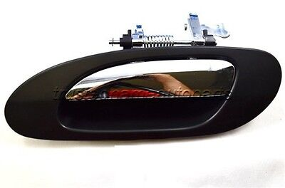for Acura Outside Outer Exterior Door Handle Driver Rear Left Black Chrome Lever
