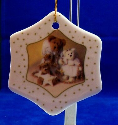 Set of 2 Boyds Bear Ornaments New in Box