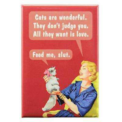 Cats Are Wonderful Fridge Magnet Funny Decor Retro Novelty Gift Kitsch Humour