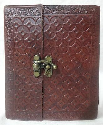Genuine Leather Vintage Blank Paper Notebook Travel Pocket Memory Diary 6x5 D17