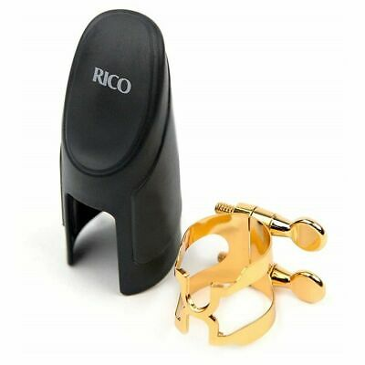 Rico H-Ligature & Cap, Baritone Sax, Gold-plated (fits Graftonite mouthpieces)
