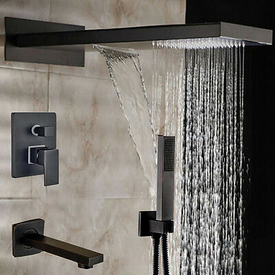 "New 3 Ways Oil Rubbed Bronze 22"" Shower Faucet Wall Mount Bath tub Mixer Tap"