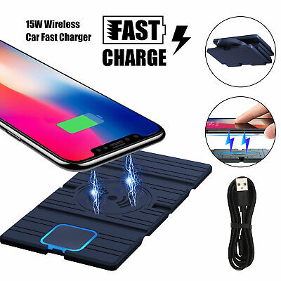 Clear Qi Wireless Fast Charger Charging Pad fr Samsung Galaxy Note 8 S8 iPhone X