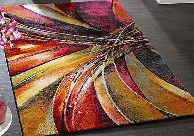 Modern Large 9-10Mm Thick Funky Design Impression Vangogh Multi-Colour Rugs