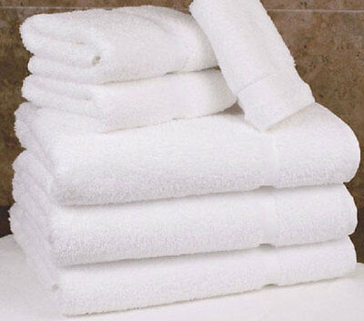 12 white cotton hotel bath towel large 27x54 *premium* st moritz 17# dozen