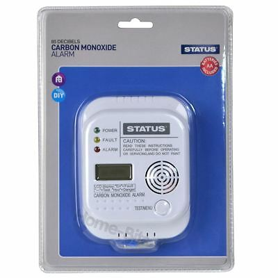 Status Carbon Monoxide Alarm Detector with Digital Display Batteries Included