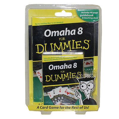 OMAHA 8 For Dummies (40-Page Guidebook & Playing Card Deck) - New