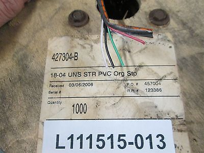 18 AWG/4 Srand Copper Wire 18-04 UNS STR PVC ORG Stp Cable About 950 Feet