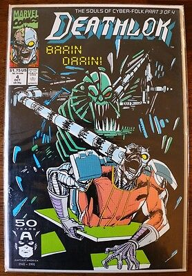 Deathlok #4 Brain Drain! (1991, Marvel) Comics, The Souls of Cyber-Folk Part 3