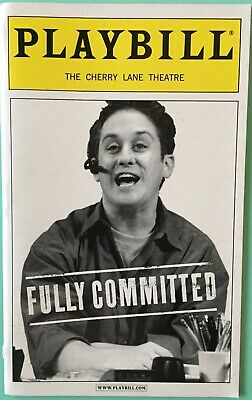 Playbill Fully Committed Christopher Fitzgerald  Becky Mode Nicholas Martin 2001