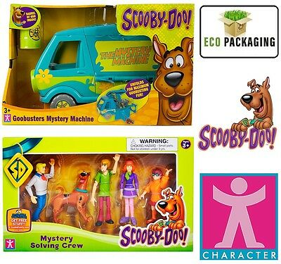 New Scooby Doo Goobusters Mystery Machine & 5 pack solving figures playset 3+