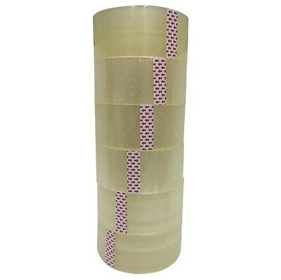 "6 ROLLS CLEAR SHIPPING PACKING CARTON SEALING TAPE 2.0MIL 2"" x 110 Yards 330 ft"