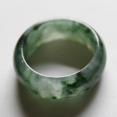 Size 8 1/4 ** CERTIFIED Natural <A> Beautiful Green Jadeite JADE Ring #R108