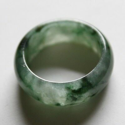 Size 8 1/4 ** CERTIFIED Natural  A  Beautiful Green Jadeite JADE Ring #R108