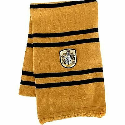 NEW Harry Potter Hogwarts Hufflepuff Scarf - Official Licensed Merchandise Elope