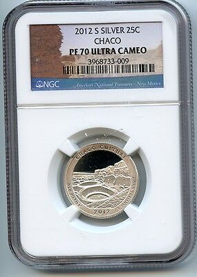 2012 S Chaco ATB NP Silver Quarter PF70 Ultra Cameo NGC 25c Proof Certified
