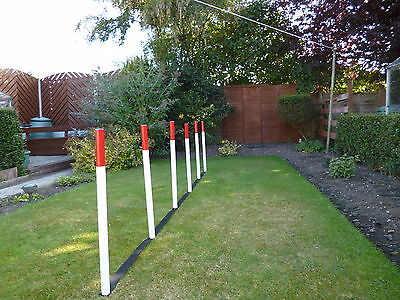 dog agility 6 PVC Training obedience Weaves with KC webbing  spacer equipment