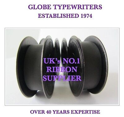 2 x 'SILVER REED SR100' *PURPLE* TOP QUALITY *10M* TYPEWRITER RIBBONS + EYELETS